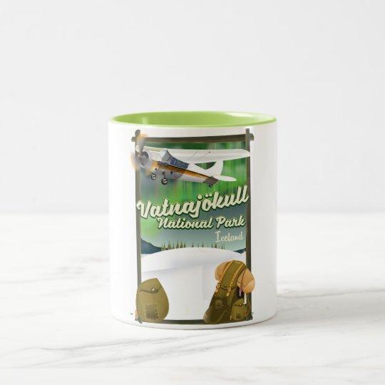 Vatnajökull National Park Iceland Two-Tone Coffee Mug