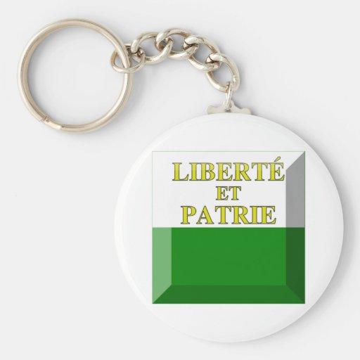 Vaud Flag Gem Keychain