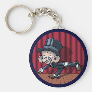 Vaudeville Hoofin' Basic Round Button Key Ring