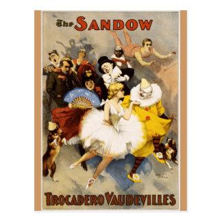 Vaudeville - The Sandow, Trocadero Vaudevilles Postcard