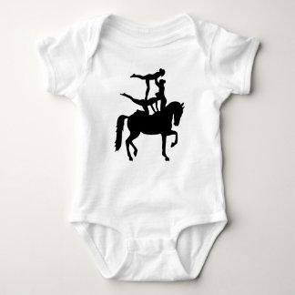 Vaulting horse baby bodysuit