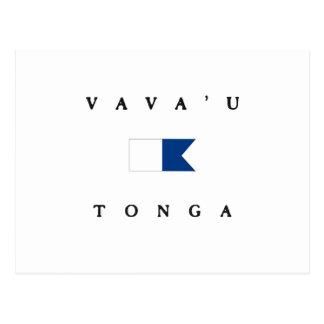 Vava u Tonga Alpha Dive Flag Post Card