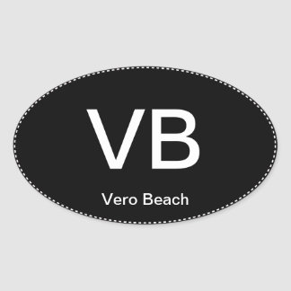 VB Vero Beach Oval Bumper Sticker