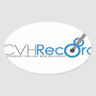 VCVH Records Clothings Oval Sticker