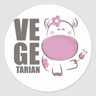 Ve Ge Tarian (Pink Cow) Classic Round Sticker