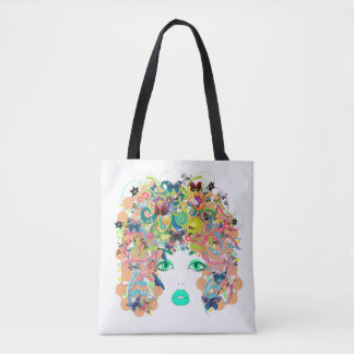 Vector Abstract Lady Tote Bag