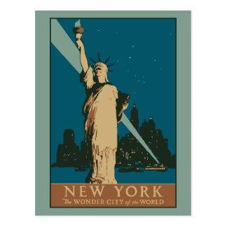 Vector Art Deco New York Wonder City Post Cards