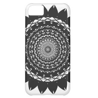 Vector Art Sunflower black iPhone 5C Cover