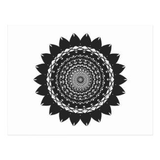 "Vector Art ""Sunflower"" (black) Postcard"