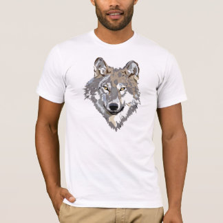 Vector Art Wolf in Profile T-Shirt