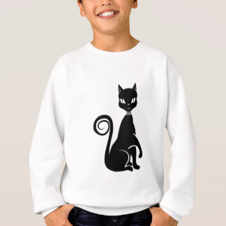 Vector Black Cat Sweatshirt