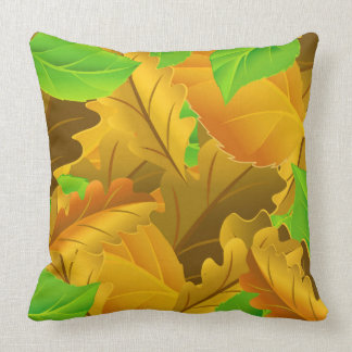 Vector Collection beautiful colorful leaves Throw Pillow