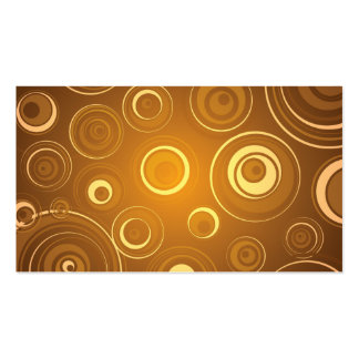 Vector  Concentric Circles orange Business Card Template