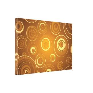 Vector Concentric Circles orange Gallery Wrap Canvas