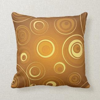 Vector Concentric Circles orange Pillows