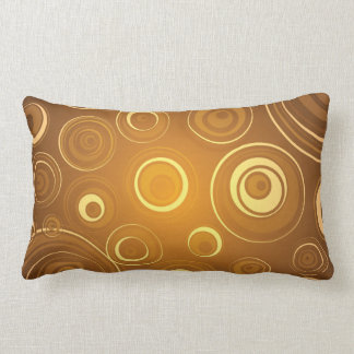 Vector  Concentric Circles orange Cushions