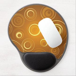 Vector Concentric Circles orange Gel Mousepad