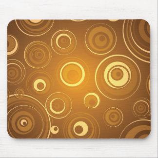 Vector Concentric Circles orange Mousepads