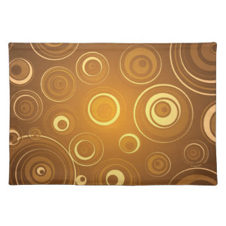 Vector Concentric Circles orange Placemat