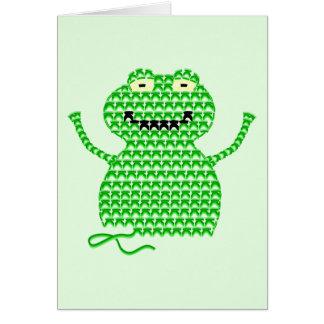 Vector Crochet Frog (Rip it, Frog it! -Green Back) Cards