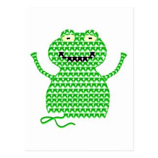 Vector Crochet Frog (Rip it, Frog it!) Postcard