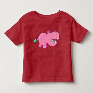 Vector  Cute pink  Hippo Toddler T-Shirt