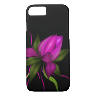 Vector Flower on Black iPhone 8/7 Case
