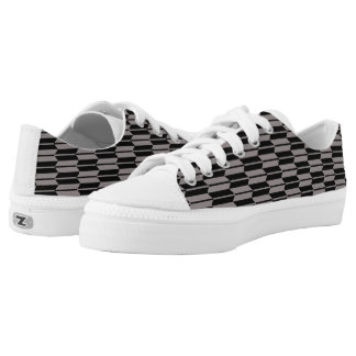 Vector Geometric Grey and black Pattern Zipz Low Tops