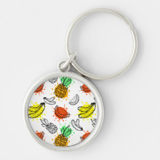 Vector Graphic Seamless Pattern Key Ring