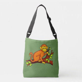 Vector illustration Monkey Crossbody Bag