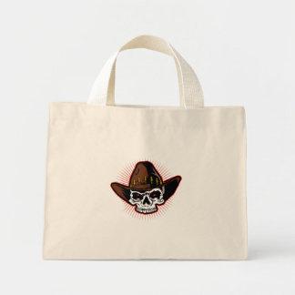 Vector illustration of Cowboy skull Mini Tote Bag