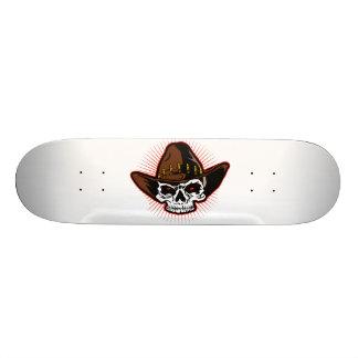 Vector illustration of Cowboy skull Skate Board Decks