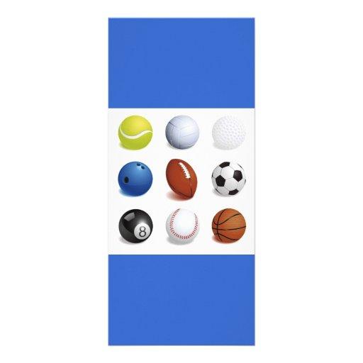 Vector Illustration of Sport Balls Rack Cards