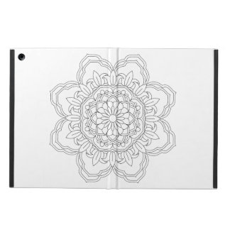 vector mandala sacred geometry illustration. iPad air case