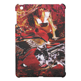 vector motorcycle girl jpg iPad mini cover