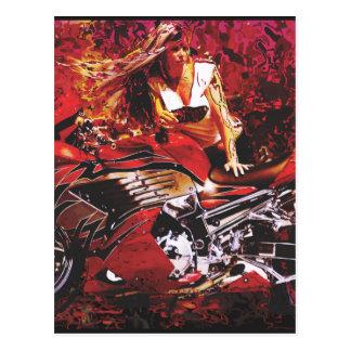 vector motorcycle girl.jpg postcard