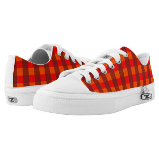 Vector Orange  checked pattern Printed Shoes