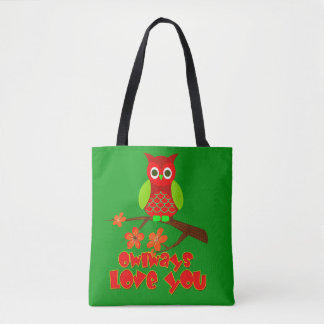 Vector Owlways Love You Tote Bag