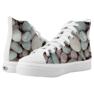 Vector  pebbles printed shoes