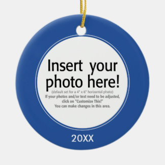 Vector Photo Frame - DOUBLE-SIDED Ceramic Ornament