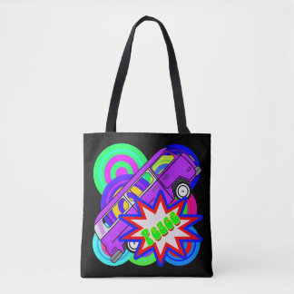 Vector Pop Art Peace Tote Bag