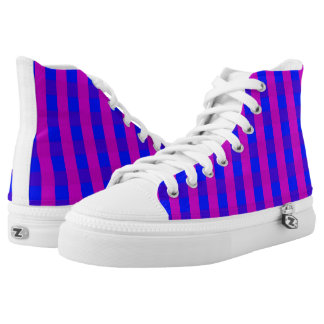 Vector purple and blue checked pattern printed shoes