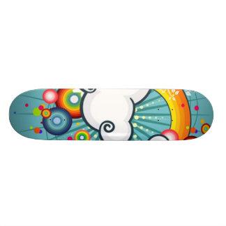 vector rainbow custom skate board