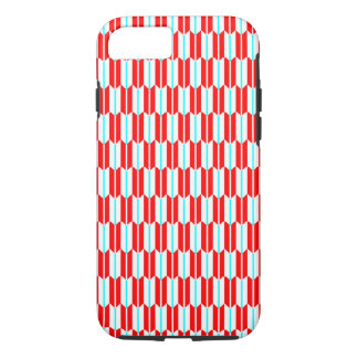 Vector Red White Blue Geometric Pattern iPhone 8/7 Case