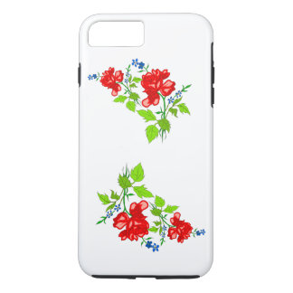 Vector rose  own (background colour background) iPhone 7 plus case