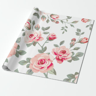 Vector Rose Pattern Wrapping Paper