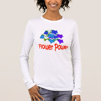 Vector shades of  bluebell flowers long sleeve T-Shirt