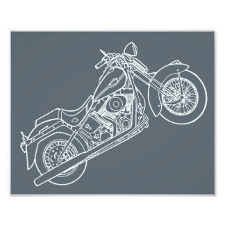 Vector Silhouette Classic  Motorbike Photograph