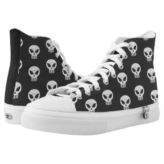 Vector Skull Distressed Printed Shoes
