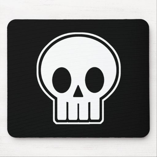 Vector Skull Halloween Mouse Pads